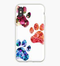 Vinilo o funda para iPhone Rose Paw Print Trio