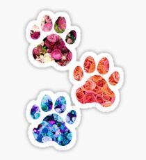 Rose Paw Print Trio Sticker