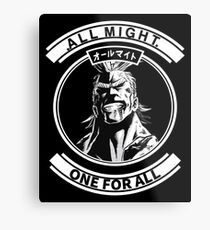 all might hero academia Metal Print