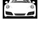 Simplistic Black and White Porsche Vector by makeitsoph