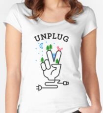 UNPLUG Women's Fitted Scoop T-Shirt