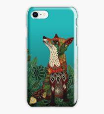 floral fox iPhone Case/Skin