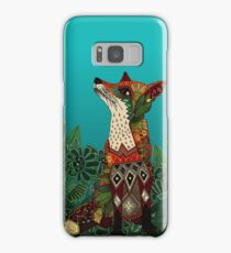 floral fox Samsung Galaxy Case/Skin