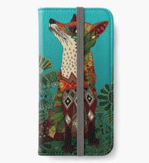 floral fox iPhone Wallet