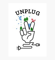 UNPLUG Photographic Print