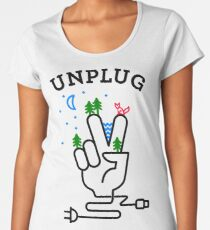 UNPLUG Women's Premium T-Shirt