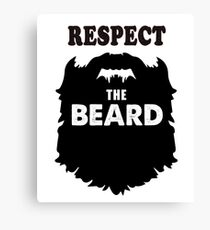 Respect the beards, funny long bearded men costume shirts Canvas Print