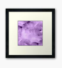 Watercolor Vibrant Purples Framed Print