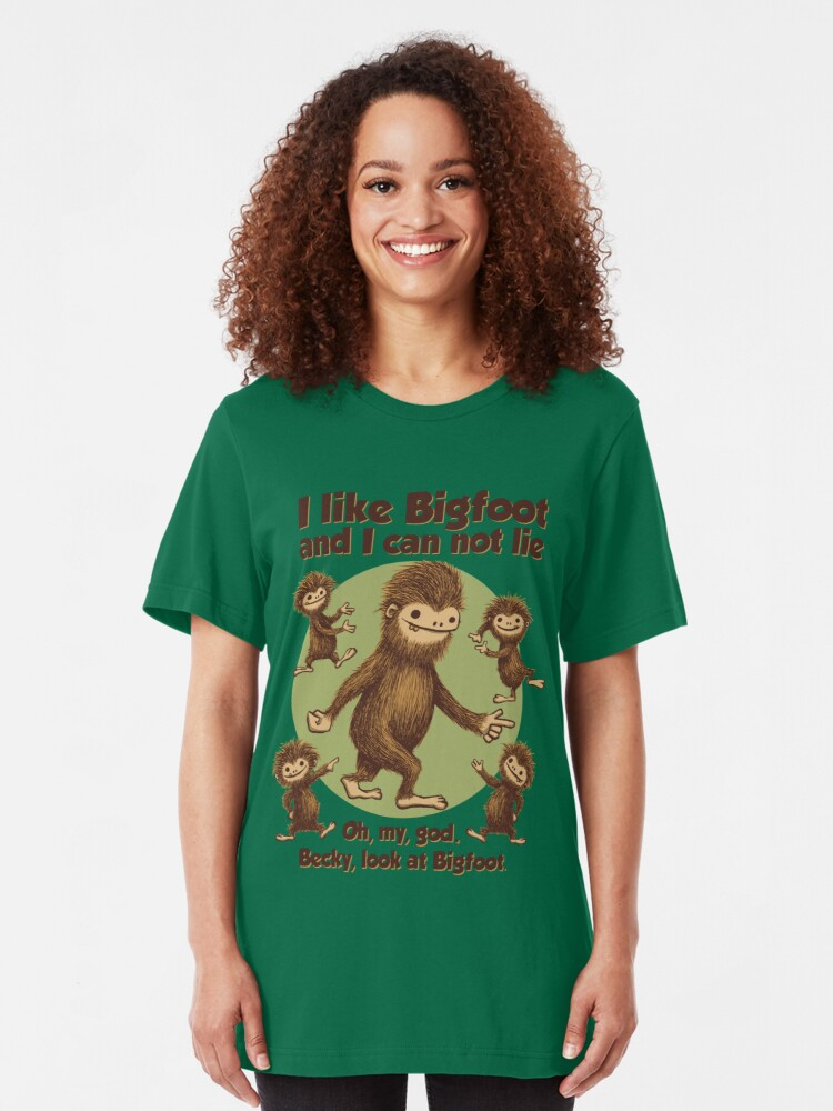 Alternate view of I like Bigfoot Slim Fit T-Shirt