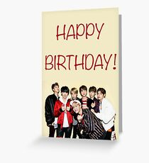 Bts birthday card Greeting Card