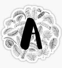 Palm Leaf Monogram Sticker