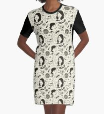 MFM- Murderino Pattern Graphic T-Shirt Dress