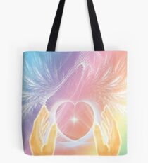 Healing with Angels and Rainbows Tote Bag