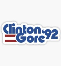 Clinton Gore 1992 Sticker