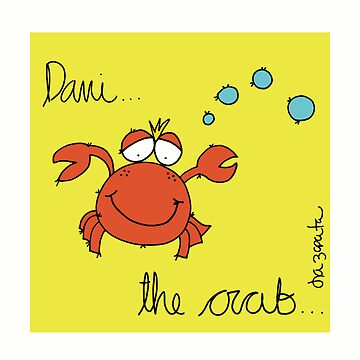 Danny The Crab (Yellow Background) by isazapata