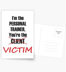 Funny Personal Trainer Logo Postcards