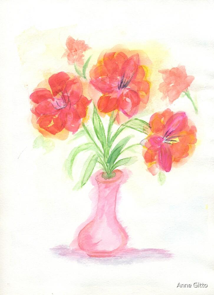 Pink vase by Anne Gitto