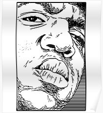 Biggie Sketch Art Poster