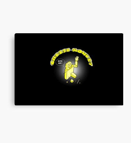 CHEESE MONKEY - loves to be nibbled Canvas Print