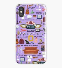 Friends collage, purple  iPhone Case/Skin
