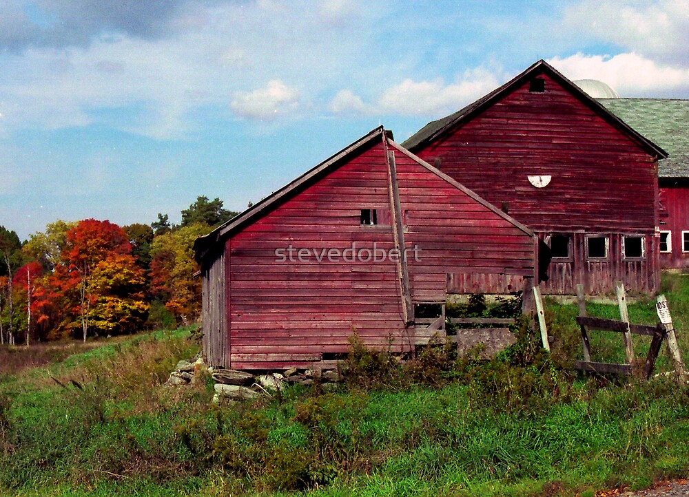autumn barn by stevedobert