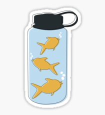 FISH IN WATER BOTTLE Sticker
