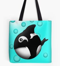 orca coo blue background Tote Bag