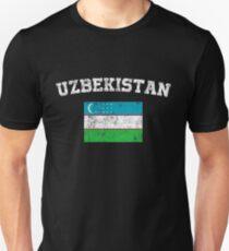 Uzbek Flag Shirt - Vintage Uzbekistan T-Shirt Unisex T-Shirt