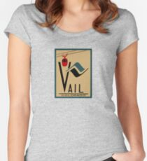Vail Colorado Vintage Travel Decal Women's Fitted Scoop T-Shirt