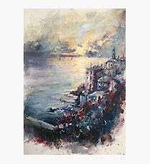 The Ligurian coast (Italy) Photographic Print