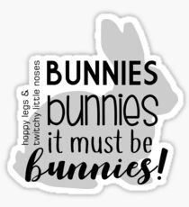 Buffy - Bunnies Sticker