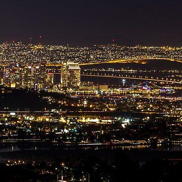 Night Across San Diego by k1ll4k4m