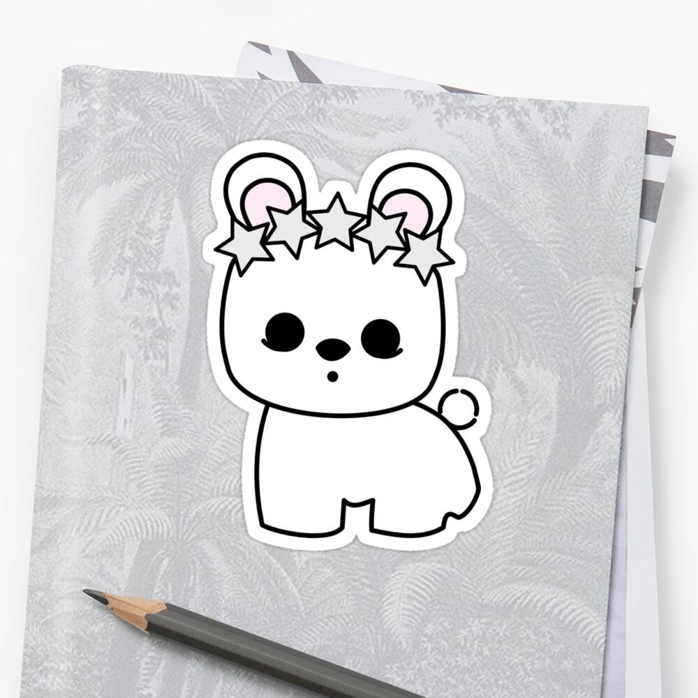Cute Pet Bunny Rabbit Blanc de Hotot with Star Crown by meetminnie