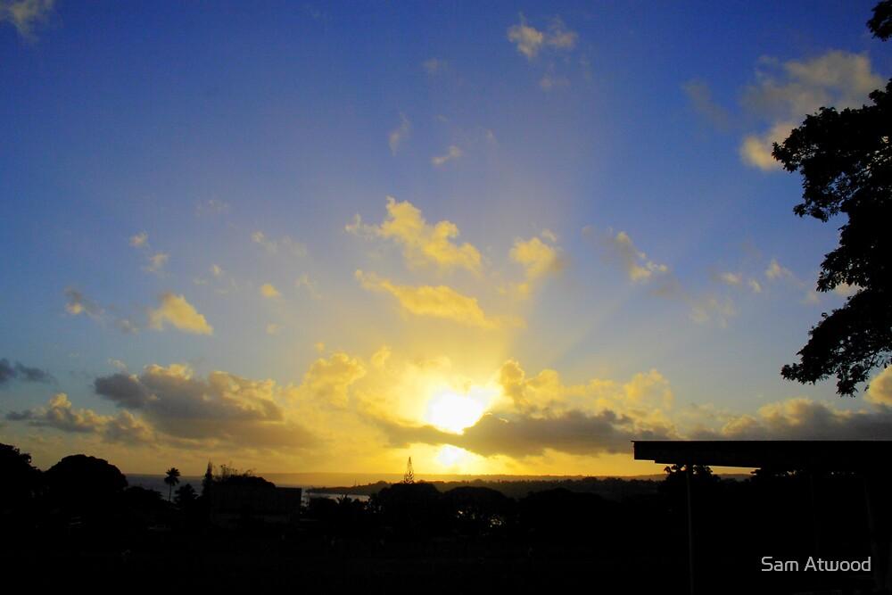 HDR Vanuatu Sunset by Sam Atwood