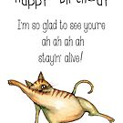 You're alive birthday card by Jenny Wood