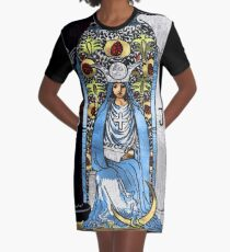 Tarot Gold Edition - Major Arcana - The High Priestess Graphic T-Shirt Dress