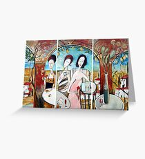 The Morning Graces - Triptic Greeting Card