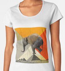 Gleichgewicht der Pyramiden Premium Rundhals-Shirt