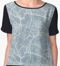 Map Pattern v2 Chiffon Top