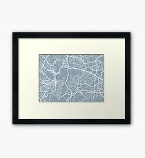 Map Pattern v2 Framed Print