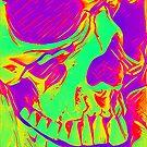 Day-Glo Pop Skull by shutterbug2010