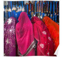 Rajasthani Shopping Spree - Poster by Glen Allison