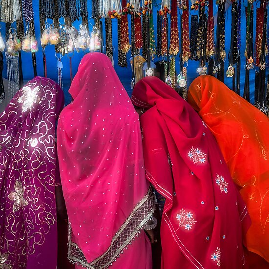 Rajasthani Shopping Spree - Travel fine art Photographic Print by Glen Allison