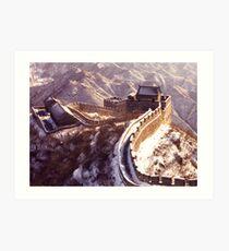 Winter at the Great Wall of China Art Print
