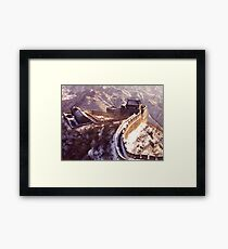 Winter at the Great Wall of China Framed Print