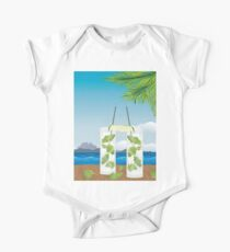 Mojito cocktail on the table 2 One Piece - Short Sleeve