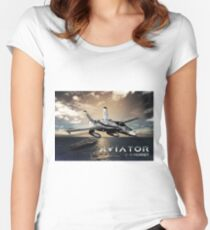 F-18 Hornet Jet Fighter Women's Fitted Scoop T-Shirt