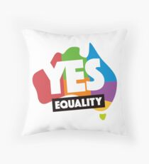 yes vote in marriage equality Throw Pillow