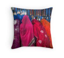 Rajasthani Shopping Spree - Throw Pillow by Glen Allison