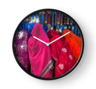 Rajasthani Shopping Spree - Clock by Glen Allison
